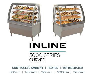 food display refrigerated inline 5000 Curved