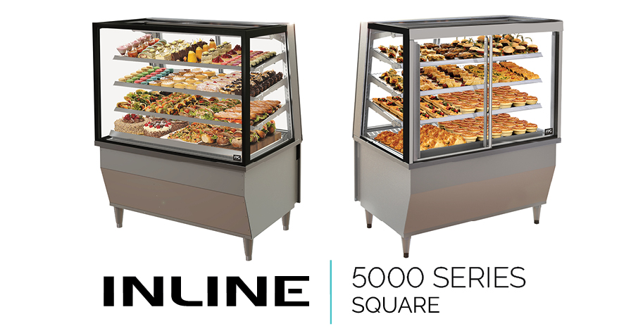Food display cabinet inline 5000 square freestanding for Cuisine 5000